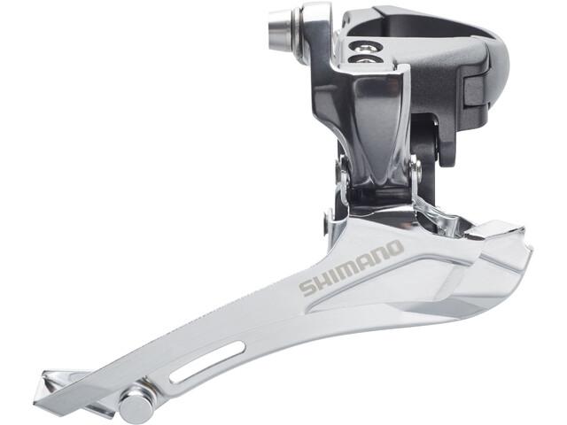 Shimano FD-CX70 Dérailleur avant 2x10 vitesses patte de fixation Down Pull, grey